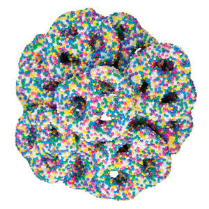 Nassau Candy Yogurt Mini Pretzel With Spring Nonpareils 15.00Lb Case