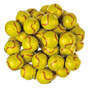 Thompson Milk Chocolate Foiled Tennis Balls 10.00Lb Case