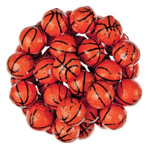 Thompson Milk Chocolate Foiled Basketballs 10.00Lb Case