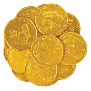 Thompson Milk Chocolate Large Foiled Gold Coins 10.00Lb Bag