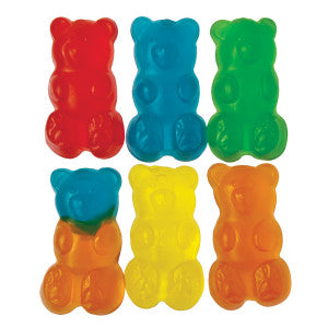 Clever Candy Gummy Giant Teddy Bears 6.60Lb Bag
