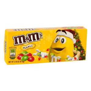 M&M'S Peanut Christmas 3.1 Oz Theater Box 12Ct Case