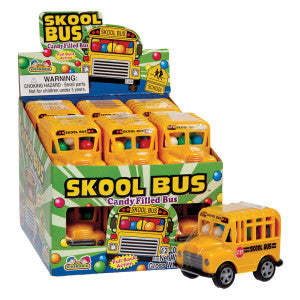 Skool Bus Candy Filled Bus 12Ct Box