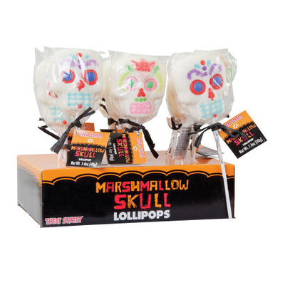DAY OF THE DEAD MARSHMALLOW SKULL 1.4 OZ LOLLIPOP