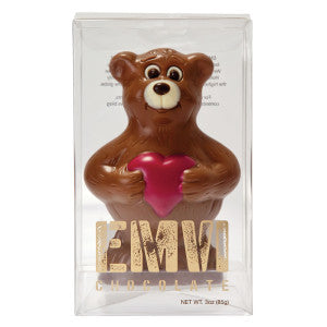 Emvi Milk Chocolate Love Bear 3 Oz Box 9Ct Case