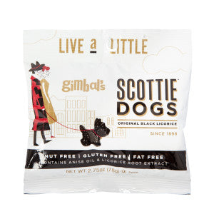 Gimbal'S Black Licorice Scotties 2.75 Oz Peg Bag 12Ct Case