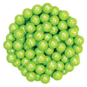 Sixlets Shimmer Lime Green 12.00Lb Case