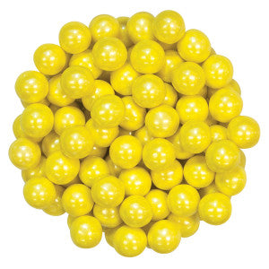 Sixlets Shimmer Yellow 12.00Lb Case