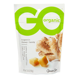 Go Organic Ginger Chews Chewy Candy 3.5 Oz Pouch 6Ct Box