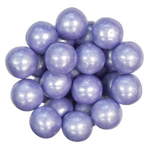 "Color It Candy Shimmer Lavender Gumballs 1"" 12.00Lb Case"