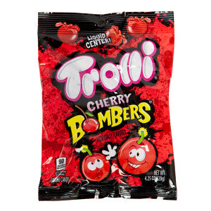 Trolli Gummy Cherry Bombers 4.25 Oz Peg Bag 12Ct Case