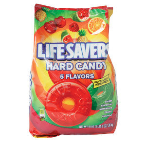 Lifesavers Assorted 5 Flavor Hard Candy 41 Oz Bag 6Ct Case