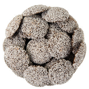 Guittard Dark Chocolate Nonpareils With White Seeds 20.00Lb Case