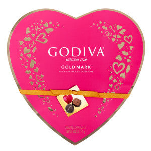 Godiva 14 Pc Heart 5.25 Oz Box 6Ct Case