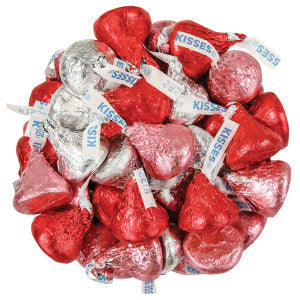 Hershey'S Valentine'S Day Red Pink And Silver Kisses 18.5 Oz 11.56Lb Case