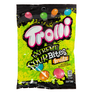 Trolli Extreme Sour Bites 4 Oz Peg Bag 12Ct Case