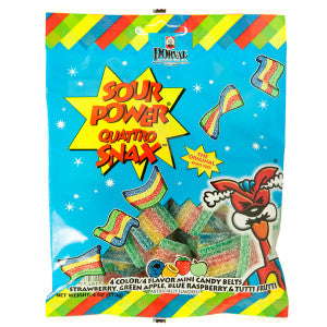 Sour Power Quattro Snax 4 Oz Peg Bag 12Ct Case