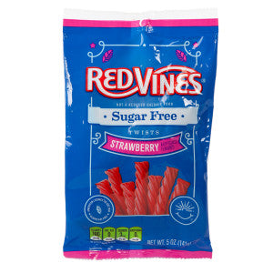 Red Vines Sugar Free Strawberry Twists 5 Oz Peg Bag 12Ct Case