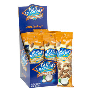 Blue Diamond Toasted Coconut Almonds 1.5 Oz Bag 12Ct Box
