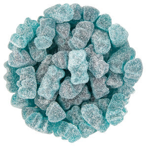 Clever Candy Sour Blastin' Blue Raspberry Flavored Gummy Bears 6.60Lb Bag