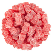 GUMMY FUN BEARS - SOUR TART CHERRY FLAVOR - RED
