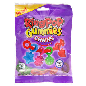 Ring Pop Gummies Chains 5 Oz Peg Bag 12Ct Case