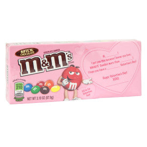 M&M'S Milk Chocolate Valentine 3.1 Oz Theater Box 12Ct Case