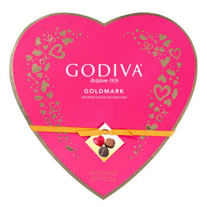 Godiva 20 Pc Heart 7.5 Oz Box 6Ct Case