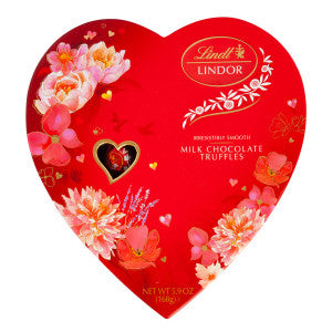 Lindt Lindor Milk Chocolate Truffles 5.9 Oz Heart Box 6Ct Case