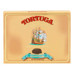 Tortuga Chocolate Rum Turtles With Sea Salt 7.5 Oz Box *Fl Dc Only* 12Ct Case