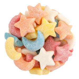 Clever Candy Gummy Glitter Sour Stars And Moons 6.60Lb Bag
