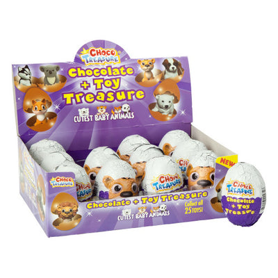 CHOCO TREASURE CUTEST BABY ANIMALS CHOCOLATE & TOY SURPRISE 0.8 OZ
