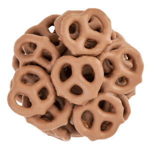 Nassau Candy Mini Milk Chocolate Select Pretzels 15.00Lb Case