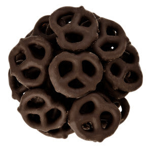 Nassau Candy Dark Chocolate Select Mini Pretzels 15.00Lb Case