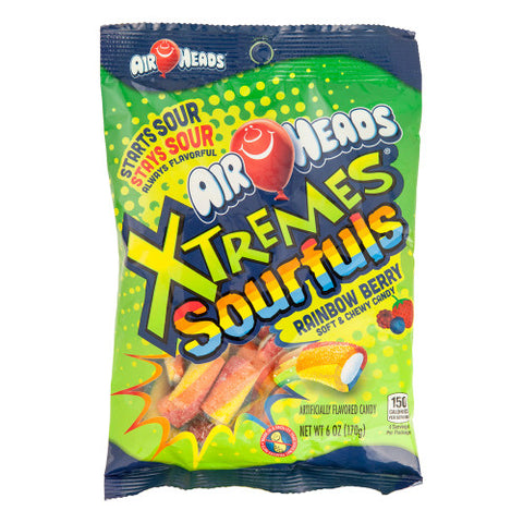 AIRHEADS - XTREMES - SOURFULS RAINBOW BERRY - PEG - 6OZ