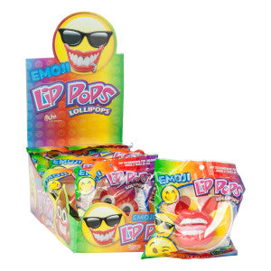 Emoji Lip Pops 0.8 Oz Lollipop 12Ct Box