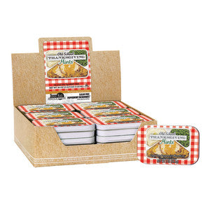 Amusemints Thanksgiving Tv Dinner Peppermint Mints 2 Oz Tin 18Ct Case
