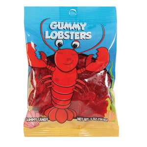 Amusemints Gummy Lobsters 5 Oz Peg Bag 12Ct Case