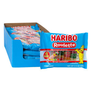 Haribo Roulette Gummy Candy 4 Pc 3.5 Oz 15Ct Case