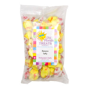 Old Florida Treats Banana Taffy 7 Oz Bag *Fl Dc Only* 12Ct Case