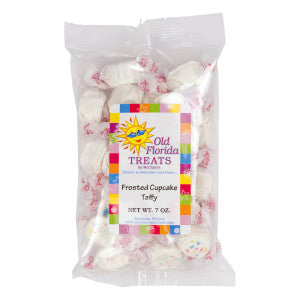 Old Florida Treats Frosted Cupcake Taffy 7 Oz Bag *Fl Dc Only* 12Ct Case