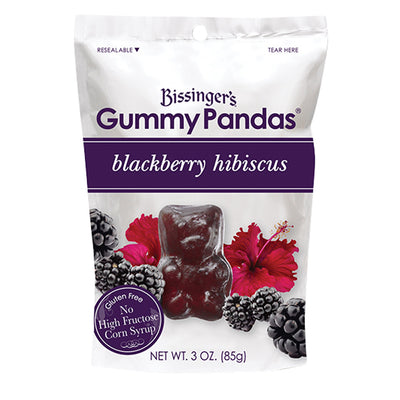 BISSINGER'S - GUMMY PANDA'S - BLACKBERRY HIBISCUS - 3OZ
