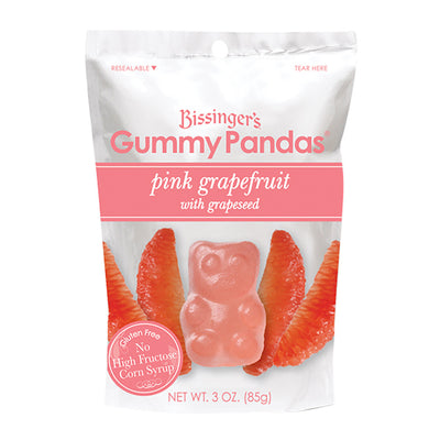 BISSINGER'S - GUMMY PANDA'S - PINK GRAPEFRUIT - 3OZ