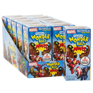 Wonder Ball Mini Marvel Chocolate Surprise 1.41 Oz Box 10Ct Box