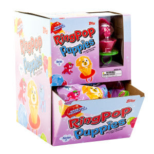 Ring Pop Puppies Toy 0.5 Oz 24Ct Box