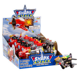 Shark Attack Candy Filled Toy Plane 3 Oz 12Ct Box