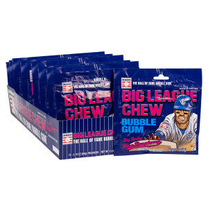Big League Chew Blue Raspberry 2.12 Oz 12Ct Box