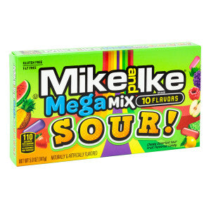 Mike And Ike Mega Mix Sour 5 Oz Theater Box 12Ct Case