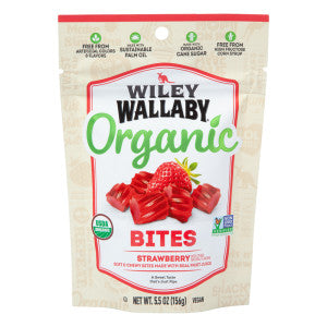 Wiley Wallaby Strawberry Organic Bites 5.5 Oz Peg Bag *Sf Dc Only* 8Ct Case