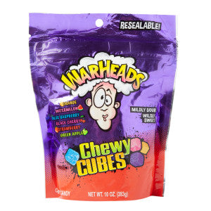 Warheads Chewy Cubes 10 Oz Pouch 12Ct Case